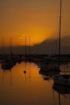 Sunset at Manila Harbor - The Phillipines.