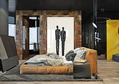 Dramatic interior of a charismatic bachelor on Behance Cozy House, Loft, Behance, Interior Design, Architecture, Inspiration, Furniture, Collection, Home Decor