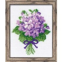 Violets Tussie Mussie Counted Cross Stitch Kit