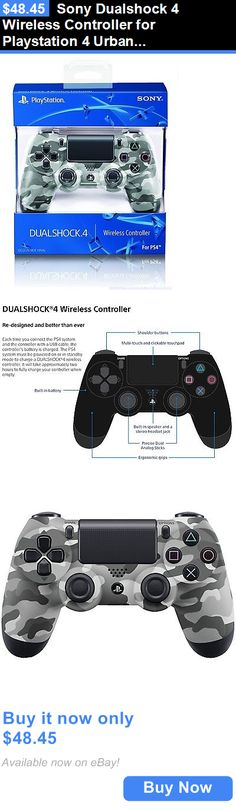 Video Gaming: Sony Dualshock 4 Wireless Controller For Playstation 4 Urban Camo Camouflage New BUY IT NOW ONLY: $48.45