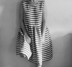 Linen stripe dress by Edith & Bertha