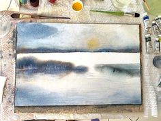 Gouache, Portrait, Creative, Illustration, Archive, Club, Landscape, Painting, Watercolor Painting