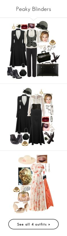 """""""Peaky Blinders"""" by scarletblaze13 ❤ liked on Polyvore featuring Alexander McQueen, Forever 21, Bulova, Giorgio Armani, Globe-Trotter, Dansko, Aspinal of London, women's clothing, women's fashion and women"""