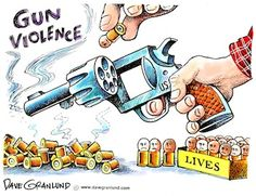 Dave Granlund on the cost of gun violence. #guns #schoolshootings