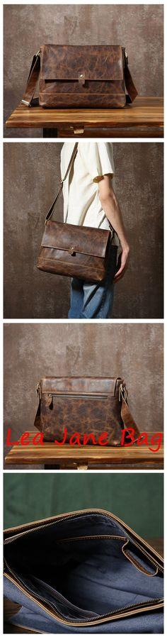 Leather Messenger Bag, Men's Shoulder Bag, Working Bag GLT073 Purses For Sale, Purses And Bags, Leather Purses, Leather Handbags, Best Bags, Leather Projects, Fashion Bags, Fashion Handbags, Handmade Bags