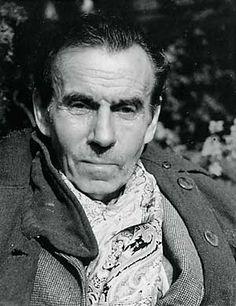 """Louis Ferdinand Céline. French writer. Author of """"Voyage au bout de la nuit"""", """"Mort á credit""""."""