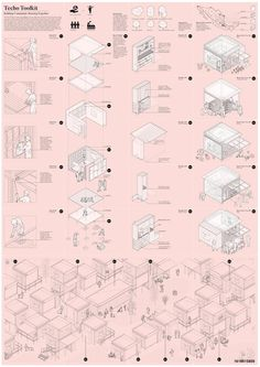 EMERGENCY HOUSING MEXICO - Architecture competition - ARCHSTORMING - ARCHITECTURE COMPETITIONS Architecture Graphics, Architecture Student, Architecture Drawings, Concept Architecture, Architecture Design, Master Arquitectura, Emergency House, Public Space Design, Concept Diagram
