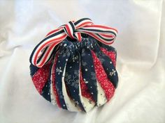 Red White and Navy Blue Twister Omiyage | lovelythings - Bags & Purses on ArtFire