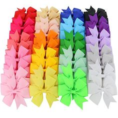 Amazon.com: Mybigqueen 40Pcs 3'' Baby Hair Bows For Girls Grosgrain Boutique bow Clips For Teens Toddlers Kids Children infants: Baby