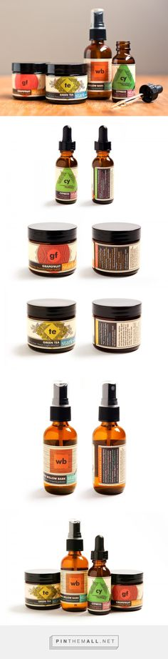 Packaging illustration and branding for Stark Skincare by Poly Studio curated by Packaging Diva PD. Boldly displaying ingredients and production details as well as being visually striking.