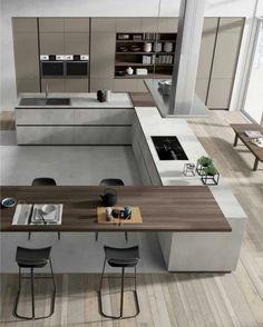 amazing luxury kitchens design ideas with modern style 1 « Home Design Luxury Kitchen Design, Kitchen Room Design, Luxury Kitchens, Home Decor Kitchen, Interior Design Kitchen, Home Kitchens, Kitchen Ideas, Cuisines Design, Cabinet Design