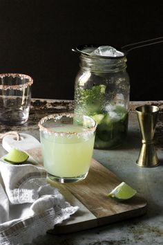 Mint Cucumber & Smoky Jalapeno Margarita Recipe - She Eats