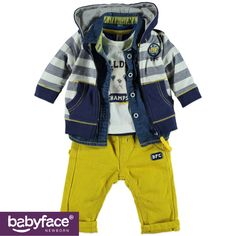 Part of the Babyface Newborn boys WINTER 2015 collection. In stores from July 2015. T-shirt, shirt, cardigan and pants.