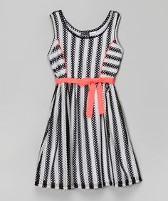 Black & White Stripe Jordana Dress #zulily #zulilyfinds
