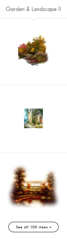 """""""Garden & Landscape ll"""" by doreen-johnson ❤ liked on Polyvore featuring garden, birdbaths, decor, flowers, landscape, autumn, tubes, backgrounds, fall and effects"""