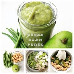 Green Bean, Pear and Butter Bean Baby Food Puree - Suitable for 6-8 months old babies