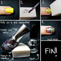Nail Wish: Glitter Sponging Tutorial
