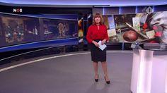 Astrid Kersseboom bringing the news on Dutch TV on 11-02-2017.
