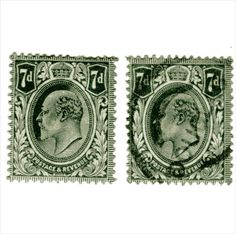 Edward VII 7d Grey MH and used