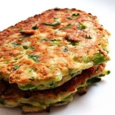 Zucchini Cornmeal Fritters with Yogurt Dill Sauce Recipe-- I didn't preheat the oven though. Corn Flour Recipes, Cornmeal Recipes, Healthy Cooking, Cooking Recipes, Healthy Food, Healthy Lunches, Healthy Eating, Vegetarian Recipes, Vegetarian Food
