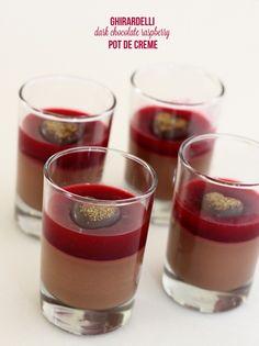 Ghirardelli Dark Chocolate and Raspberry Pot de Creme for Valentine's Day
