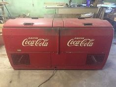 It still runs, has a bottle opener on the front, you can still see the price they sold for. Coca Cola Cooler, Bottle Openers, Coke, Emboss, Drinks, Metal, Vintage, Drinking, Bottle Opener