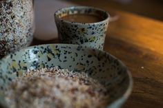 Handmade ceramic breakfast bowl and cup Breakfast Bowls, Handmade Ceramic, Ceramics, Tableware, Ceramica, Pottery, Dinnerware, Tablewares, Ceramic Art