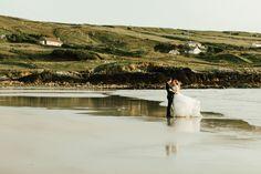 Ligia and Beni's fun and full of emotion couple's trash the dress session at the amazing Glassilaun beach Atlantic Way in Connemara at magical golden hour. Irish Beach, Connemara, Beach Weddings, Dublin, Ireland, Ocean, Photography, Beautiful, Dresses