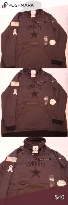 dbfcd44be Nike Dallas Cowboys Salute To Service Rally Hoodie New Nike Womens Dallas  Cowboys Salute To Service