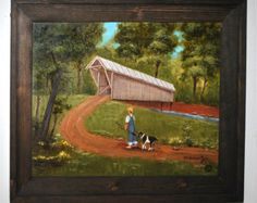 Picnic Framed Original Oil Painting Landscape Folk by jagartist