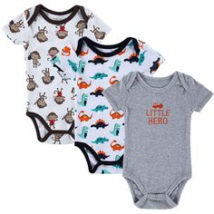 >> Click to Buy << 2016 new 3pcs/ lot Baby Romper Hanging Blue Short Sleeve New Born Baby Body Boy/Girl Clothes Baby Clothing free shipping #Affiliate