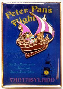 Disney Pin Pics Pin 53317: WDI - Fantasyland - Peter Pan's Flight - Poster