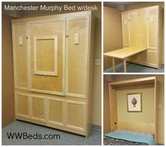 Manhattan Murphy Bed w/ Desk | Timber Trails: Supporting cabin, cottage, and tiny house builders with plans, kits, tools, and tips, along with DIY workshops and professional networking! For details, go to >> TimberTrails.TV