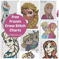 free-frozen-disney-anna-elsa-olaff-kristoff-sven-patterns-charts-cross-stitch-embroidery