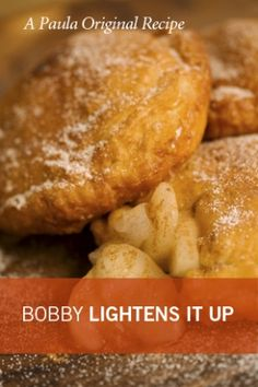 Bobby Deen's Lighter Apple Pies have  192 fewer calories & 22g less fat per pie than Paula's original recipe 🍎 4 tsp butter, 3 McIntosh apples, 3 TBsp sugar, ½ tsp cinnamon, 1 tsp lemon juice, ½ (15-oz) pkg refrigerated rolled pie crust, 2 TBsp confectioners' sugar 🍏 Makes 8 pies each with: 176 Cal, 1g Protein, 8g Fat, 25g Carb, 11g Sugar, 162 mg Sodium, 5 mg Cholesterol