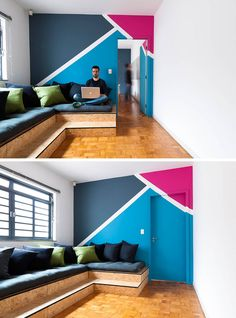 Wall Decor Idea – Create a Modern Mural Using Painters Tape | CONTEMPORIST