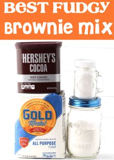 Just a few ingredients, and you've got the BEST mix to stock your pantry with, so you're ready the next time those cravings hit! Go grab the recipe and give it a try this week! Brownie Mix Recipes, Homemade Brownie Mix, Easy Pie Recipes, Homemade Snickers, Homemade Brownies, Easy No Bake Desserts, Cheesecake Recipes, Fun Desserts, Dessert Recipes