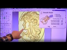 153 Making a 3D relief from a grayscale picture with ArtCAM - YouTube