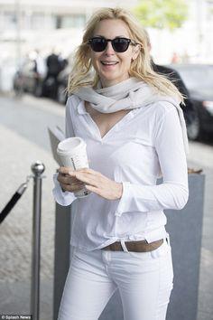 In laws: The Gossip Girl star is in Berlin in Germany - ex-husband Daniel Giersch's home c...