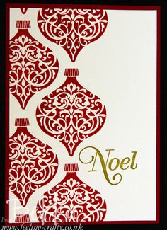 Fab and Fast Christmas Card featuring the Ornament Keepsakes Stamp Set by Stampin' Up! Demonstrator Bekka Prideaux
