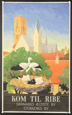 DENMARK:  Denmark travel poster.