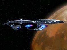 The Excelsior-class USS Hood and the Galaxy-class USS Enterprise in orbit above Deneb IV (ST:TNG, 'Encounter at Farpoint') Star Trek 1, Star Trek Voyager, Star Trek Ships, Uss Enterprise, Excelsior Class, Science Fiction, Starfleet Ships, Star Trek Original Series, Star Trek Starships