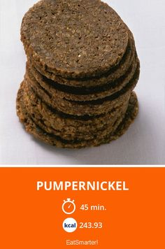 Pumpernickel - smarter - Kalorien: 243.93 kcal - Zeit: 45 Min. | eatsmarter.de Rye Berries, Rye Grain, Can I Eat, Food Shows, Eat Smarter, Baking Pans, Bread Recipes, A Food, Food Processor Recipes