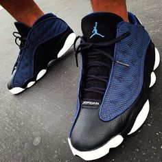 First Pair of Jordans I ever bought. Air Jordan 13 Low Navy Black - Sk8thegr8 (2004)