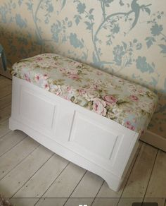 I want to upholster and paint our blanket box.