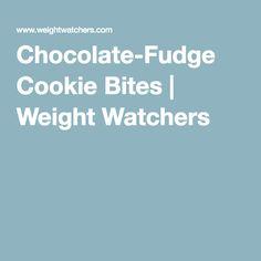 Chocolate-Fudge Cookie Bites | Weight Watchers