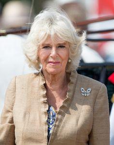 Camilla, Duchess of Cornwall attends Sandringham Flower Show on July 30, 2014 in Sandringham, England.