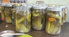 Lacto-fermented pickles. An easy way to preserve vegetables and fruit. All you need is salt and water for vegetables, and water, a dash of salt, and raw honey for fruit