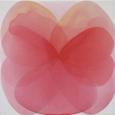 "Saatchi Art Artist Jitka Anlaufova; Painting, ""Abstract Flower Form"" #art"