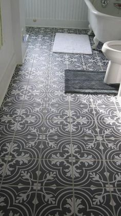 Tile can feel cold so a couple washable cotton rugs are just the trick.